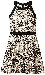 Miss Behave Big Girls' Zoe Dress, Black/Multi, Large