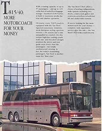 Amazon com: 1993 Van Hool T815/40 Tour Bus Sales Brochure