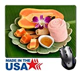 """MSD Natural Rubber Mouse Pad/Mat with Stitched Edges 9.8"""" x 7.9"""" IMAGE ID: 35304219 Papaya and honey aesthetic skin hair acne and dark spots on the face"""