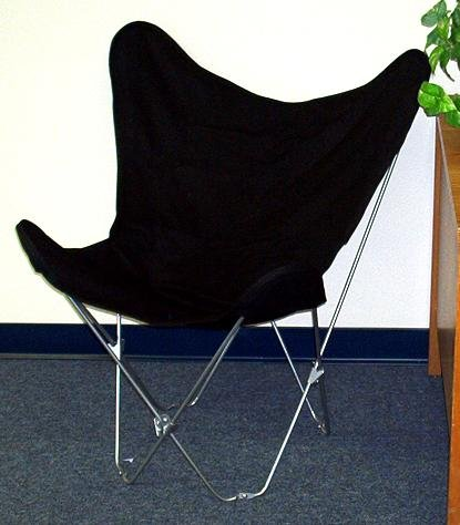 - Solid Black Canvas Butterfly Chair Cover Only