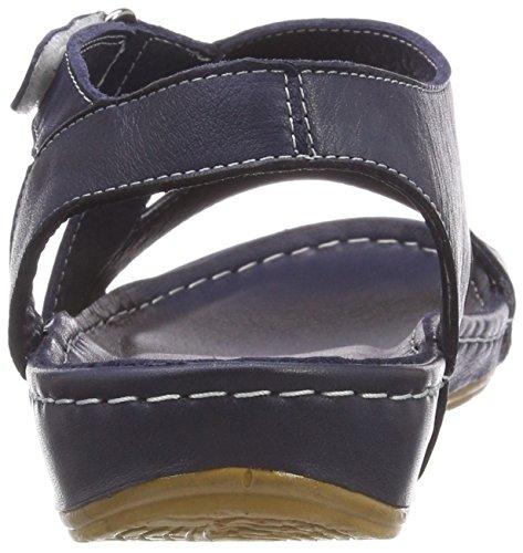 Andrea Conti 0025784, Bout Ouvert Femme Bleu (Dunkelblau 017)