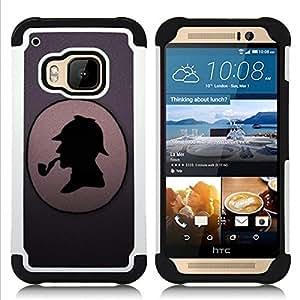 - Funny S. Holmes Detective/ H??brido 3in1 Deluxe Impreso duro Soft Alto Impacto caja de la armadura Defender - SHIMIN CAO - For HTC ONE M9