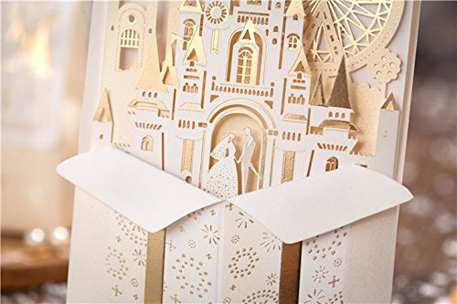 amazon com wishmade 50x laser cut 3d gold gilding wedding