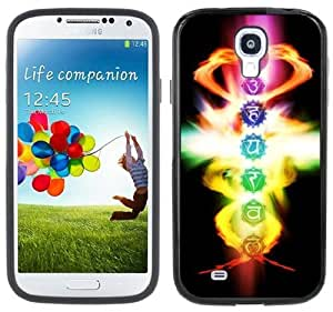 Chakras Samsung Galaxy S4 Black Bumper Hard Plastic Case