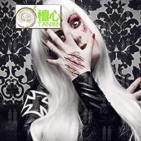 Halloween, realista, divertido, cuchillo, película, maquillaje ...