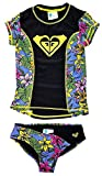 Roxy Big Girls Rash Guard Set (14, Hot Tropics)