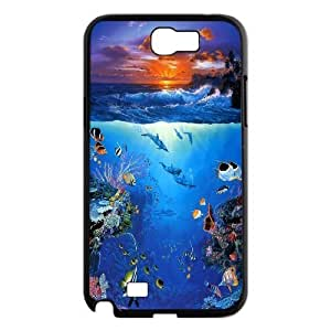 James-Bagg Phone case Love dolphins,cute dolphin pattern For Samsung Galaxy Note 2 Case FHYY429589