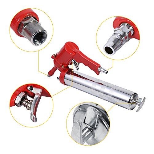 Air Grease Gun Heavy Duty Pistol Grip Grease Tool Air Pneumatic Compressor Pump Standard Lever Oil Alemite Grease Gun Extension Set Home Grease Gun Tool by Estink (Image #3)