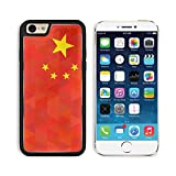 Apple iPhone 6 6S Aluminum Case China Flag Original proportion and colors Geometric unusual concept Abstract IMAGE 35111423 by MSD Customized Premium Deluxe Pu Leather generation Accessories HD Wifi L