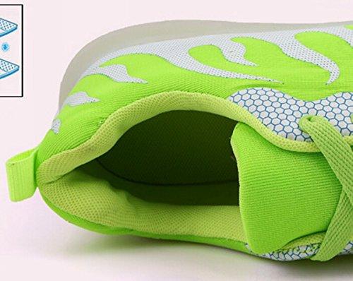 Meyison Unisex Lovers Blinkende Leuchtende Luminous Schuhe Sportschuhe mit Licht Grun