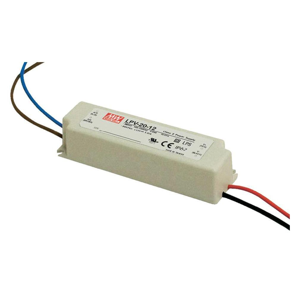 MW Mean Well LPV-20-12 LED Driver 20W 12V IP67 Power Supply Waterproof