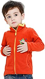 Baby Boys and Girls  Woolen Zip Front Embroidery Pattern Jacket Sweatshirt