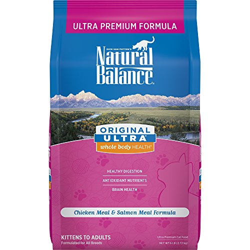 Natural Balance Original Ultra Whole Body Health Dry Cat Food, Chicken Meal & Salmon Meal Formula, 6-Pound