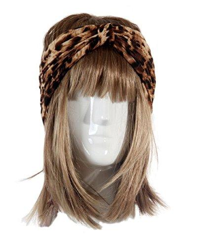 WIIPU bowknot hair band super beautiful Tulle Bow Headband (N67)Leopard