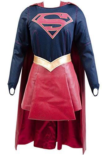 Kara Danvers Costume (Supergirl Kara Danvers Cosplay Costume Adult Suit Dress Skirt Outfit Cape)