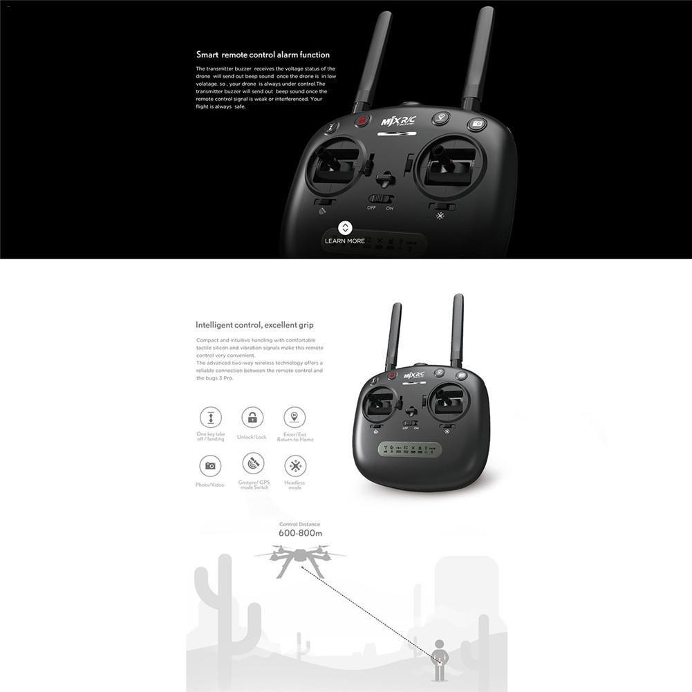 Bulary HD Cámara Antena Drone WiFi APP Control Quadcopter 3 Pro B3PRO Drones Quadcopters Brushless Control remoto 1080P 5G wifi: Amazon.es: Bebé