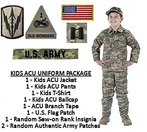 Kids Standard Military Uniform Package - ACU, Camouflage, Size Large (16)