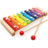 Tinykart Wooden Xylophone for Kids - 8 Note Musical Toy - Pack of 1 (Big Size)