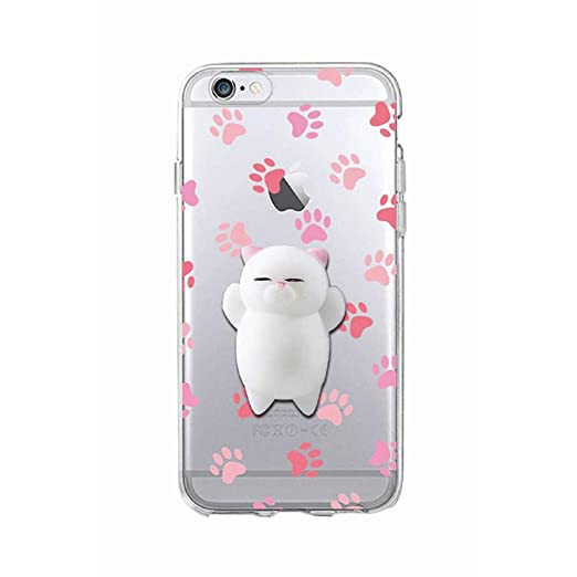 3 opinioni per Cover iPhone 5, Squishy 3D Animal Animale Cat Gatto iPhone 5s Case, Cute Stress