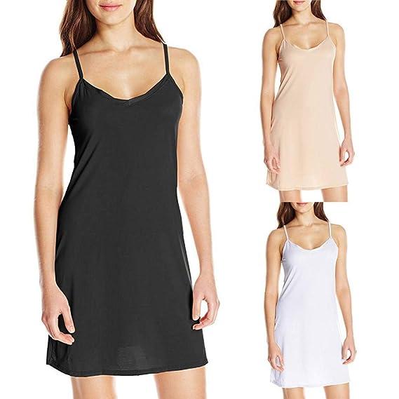 POLP Mujer Vestido ◉ω◉ Color sólido Vestidos Mujer Verano 2018 Cadera Vestido, Camisón Falda Un Hombro, Honda Vestidos, Sexy Vestido de Tirantes Camisón, ...