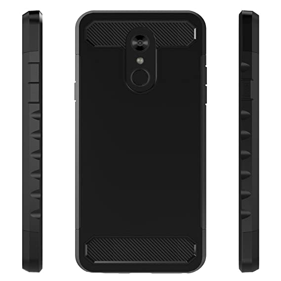 ... LG Q Stylus, [Carbon Fiber] Shock Absorption Hybrid Armor Defender Protective Case Cover for LG Stylo 4/LG Q Stylus - Black: Cell Phones & Accessories