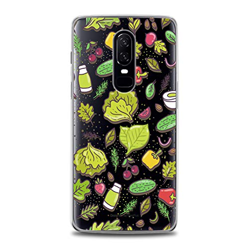 Lex Altern TPU Case for OnePlus 7 Pro 6T 6 2019 5T 5 2017 One+ 3 1+ Veggie Bright Pattern Clear Cover Vegan Healthy Lifestyle Silicone Print Durable Green Design Girls Women Teen Flexible Trend]()