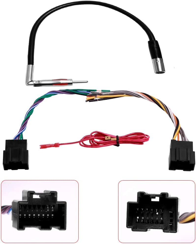 amazon.com: car stereo radio wire harness plug and antenna adapter for some  gm pontiac saturn vehicles: car electronics  amazon.com
