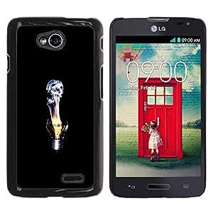 Be Good Phone Accessory // Dura Cáscara cubierta Protectora Caso Carcasa Funda de Protección para LG Optimus L70 / LS620 / D325 / MS323 // Idea Deep Emo Black Dark