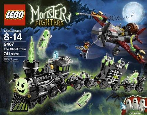 741 Pieces, Many Interactive & Glow-in-The-Dark Parts the Ghost Train Building Set