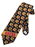 Team NFL Mens San Francisco 49ers Football Necktie - Black - One Size Neck Tie