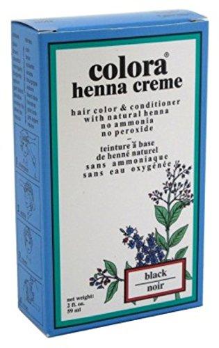 Colora Henna Creme Hair Color Black 2oz (6 Pack)