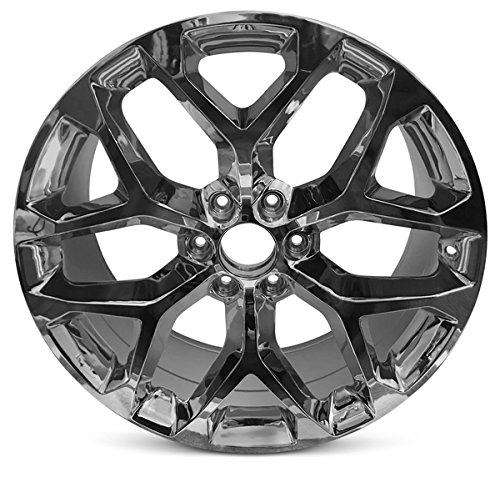 Road Ready Car Wheel For 2015-2018 Cadillac Escalade GMC Sierra Yukon Chevy Suburban Tahoe Silverado 22 Inch 6 Lug Chrome Rim Fits R22 Tire - Exact OEM Replacement - Full-Size Spare (22 In Chrome Rims)