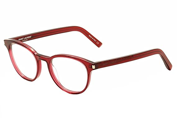 68f45205db Saint Laurent Eyeglasses Classic 10 008 Red Transparent Optical Frame 50mm