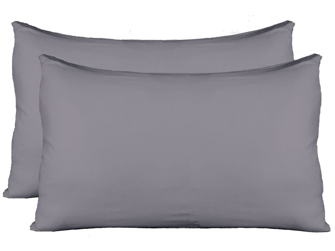 Stretch Jersey Pillow Cases with Invisible Zipper, Universal Size fit all King, Queen and Standard Size Pillows, Modal Rayon Spandex 180 Gram, Soft than Cotton, Pack of 2, White Truworth Bedding