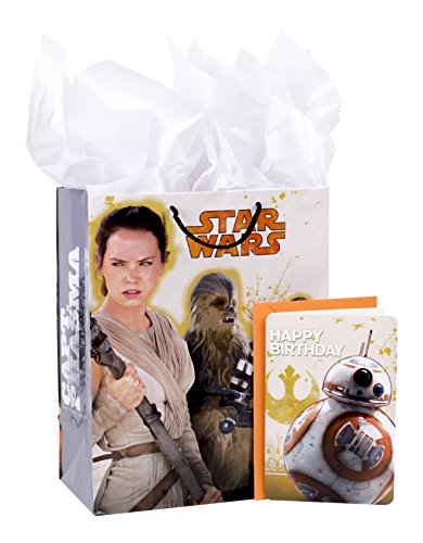 Hallmark Large Birthday Gift Bag with Card and Tissue Paper (Star Wars Episode VII) (Birthday Star Wars)