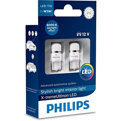 Philips 12799I60 X 2 X-Tremeultinon LED Éclairage Intérieur Voiture W5W T10 6000K 12V, Set de 2 2