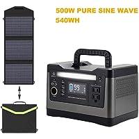 500W Generador Solar + 60W Panel Solar Energía De Almacenamiento De Energía Portátil Energía For Acampar Al Aire Libre Caja De Almacenamiento De Energía Móvil Estación De Energía De Emergencia