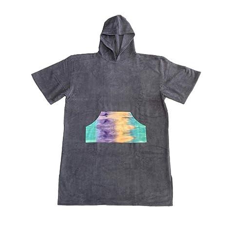 Poncho cambiante unisex adulto de la toalla del traje de la microfibra con la capilla,