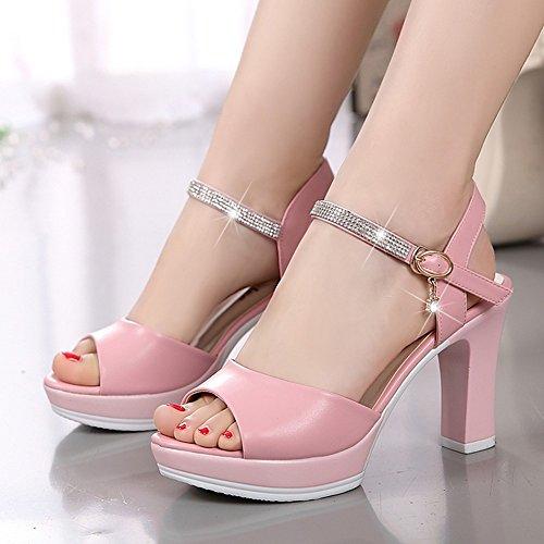 Ladies LI sandali basse heelsWomen Flop toe Peep BAJIAN scarpe sandali Flip estivi scarpe di Alta BfqwC