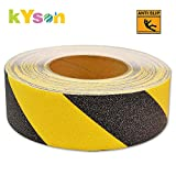 "Kyson No Slip Safety Tape High Traction Abrasive Grit Grip Warning Stickers for Stairs Indoor Outdoor 2"" X 16.4'"