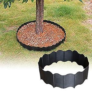 beiyoule Lawn Fence,20pcs Interlocking Fence, Garden Lawn Edging Flexible Landscape DIY for Outdoor Garden Decorative…