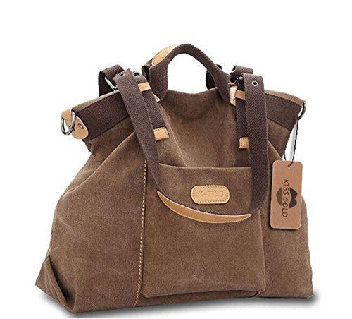 KISS GOLD(TM) Women's Casual Canvas Top Hanle Bag Shoulder Bag