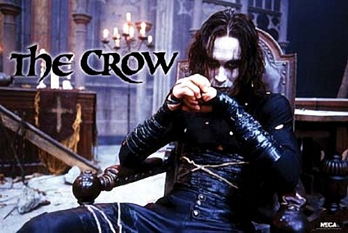 THE CROW MOVIE POSTER - BRANDON LEE SITTING - NEW 24X36