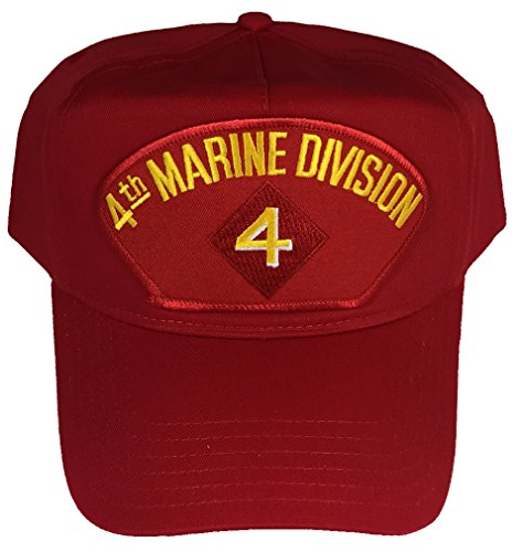 4TH MARINE DIVISION HAT - RED - Veteran Owned Business (Marine Division Hat)