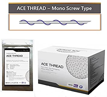 ACE PDO thread lift KOREA face/whole body - Mono Screw Type (100pcs) (30G25)