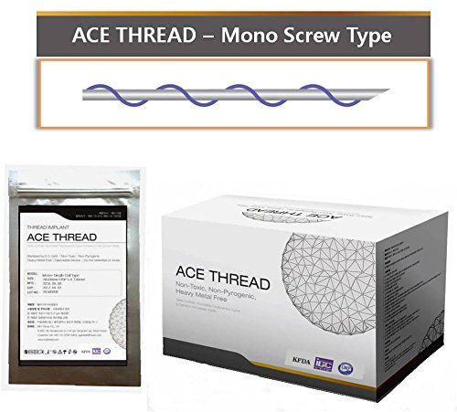 【1着でも送料無料】 【並行輸入】 ACE PDO Thread lift Korea/ (リフティング糸 lift/ Type メソン/ 漢方病院針/ 鍼 )/ Ultra V-Lift/ Face Lift - Mono Screw Type 100pcs (26G60) 26G60 B01MDPRL7N, シュードリーム:1dbf221f --- a0267596.xsph.ru