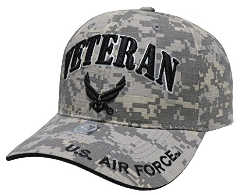 US Armed Forces Embroidered Military Baseball Cap Hat (Air Force Veteran Universal) (Veteran Embroidered Baseball Cap)