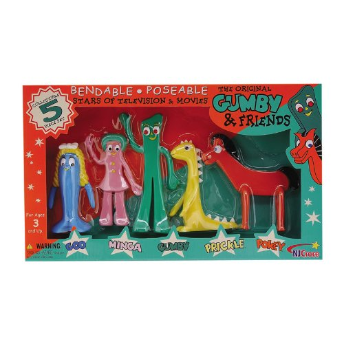 NJ Croce Gumby and Friends Action Figure Boxed Set