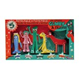 Cartoon Character Mini Gumby and Friends Bendable Boxed Toy Set