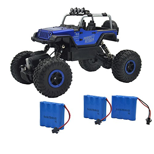 Blomiky Wesipi C182 1:18 4WD Alloy Blue Monster RC Cars Toy Off-Road Remonte Control Vehicle Rock Crawler Buggy Toy for Boy Kids C182 Blue